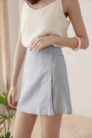 Wrap Skirt Pants in Blue