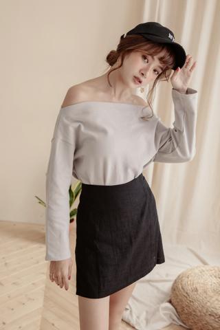 Wrap Skirt Pants in Black