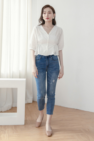 Frayed Ankle Jeans