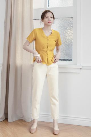 Vintage Denim Jeans In White