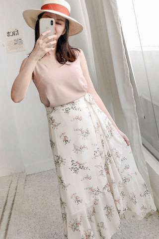 Floral Ruffled Skirt
