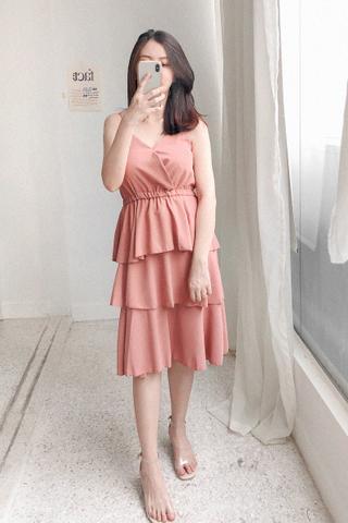 Layered Maxi Dress In Tea Rose