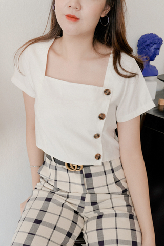Side Buttoned Crop Top