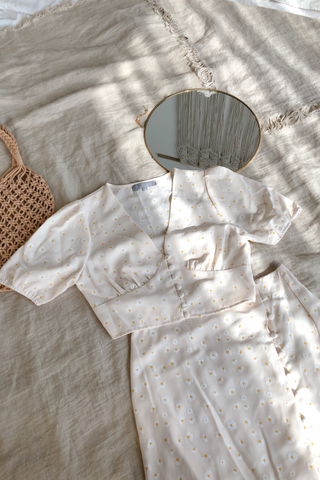 Daisy Buttoned Top