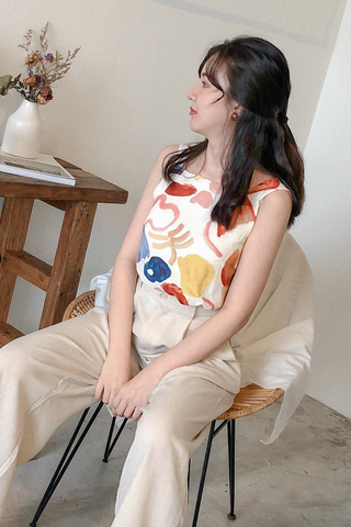 Abstract Self-tie Top