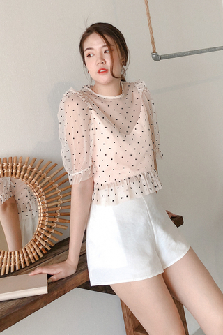 Mesh Polka-dots Top