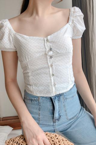 Crochet Buttoned Top