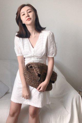 Crorchet Dotted Mini Dress