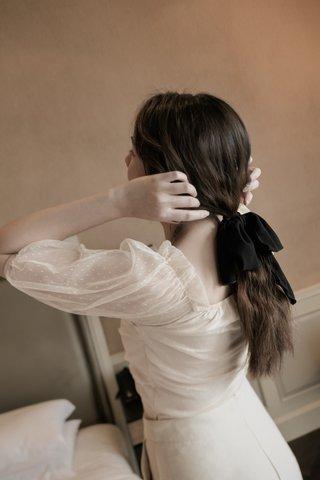 Bow Hair Tie in Black