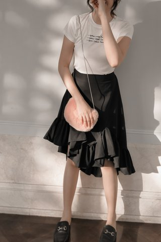 Ruffled High-low Skirt