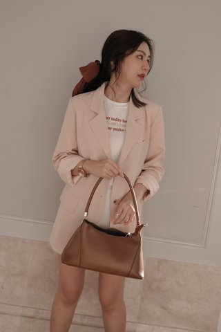 Ruched Long Sleeve Blazer