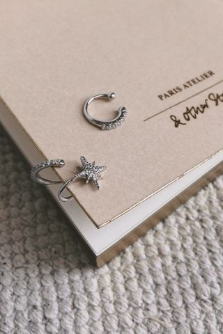 Blinking Star Earing Set in Silver