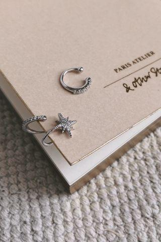 Blinking Star Earing Set in Silver