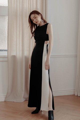 Duo Tone Midi Dress