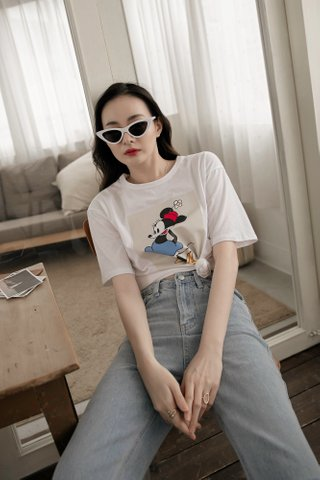 Minnie Vintage Tee in White