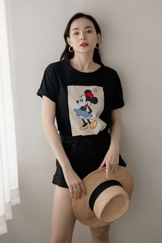 Minnie Vintage Tee in Black