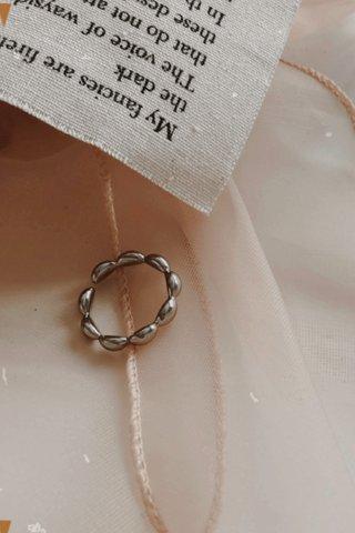Nano Beams Ring in Silver