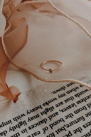 Drop Diamond Ring in Gold
