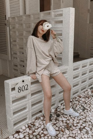 Pullover Two-piece Set in Beige