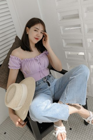 Ariena Knitted Top in Purple