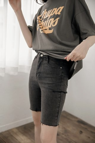 Distressed Bermuda Shorts in Grey