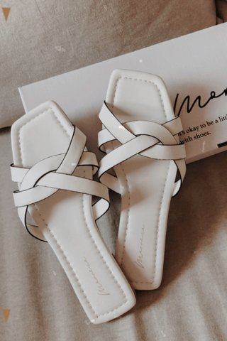 Shavon Braided Sandals in White