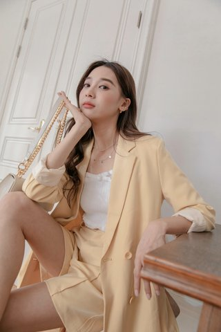 Chavon Longline Blazer in Yellow