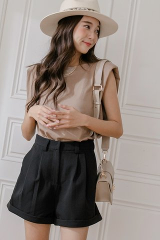 Classy Pleated Shorts in Black