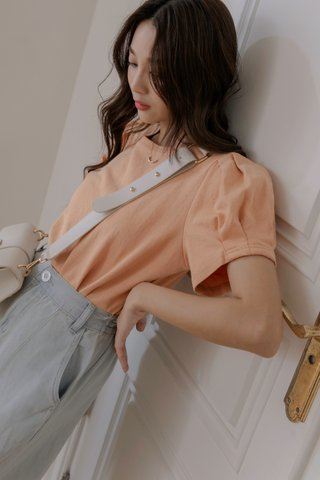 Puffy Sleeve Top in Orange