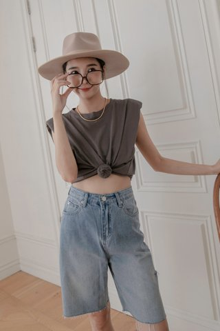 Denim Culottes Shorts