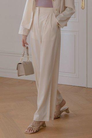 Flosi Wide-Leg Trousers in Cream