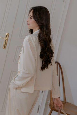 Flosi Crop Blazer in Cream
