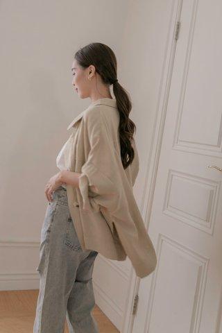 Penny Oversized Jacket in Beige