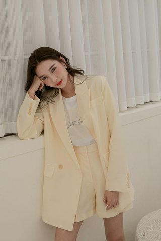 Emily Oversized Blazer in Yellow