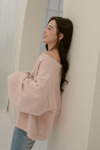 Fluffy Furry Jacket in Pink