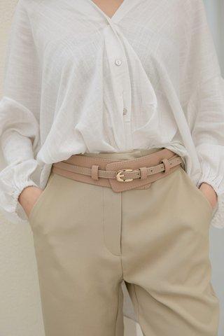 Lulu High-waist Belt in Cream
