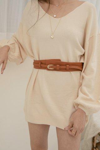 Lulu High-waist Belt in Brown