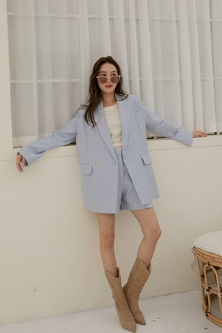 Emily Oversized Blazer in Blue