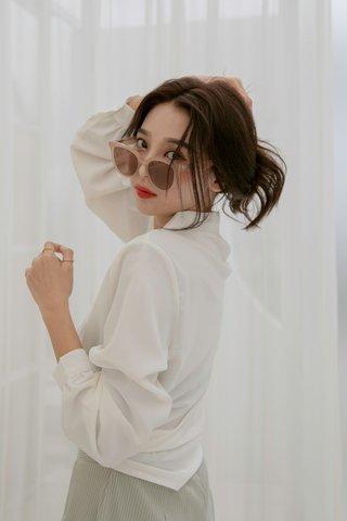 Korea Basic Blouse in White