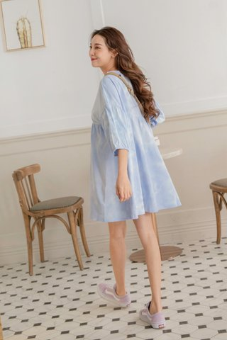 Tie-dye Babydoll Dress in Blue
