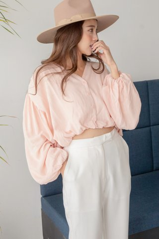 Carlos Puffy Blouse in Blush