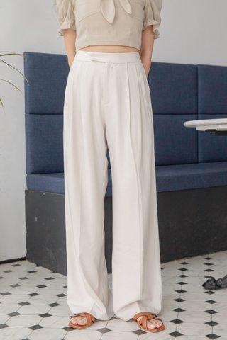 PREMIUM  Lyn Wide Leg Trousers in Cream