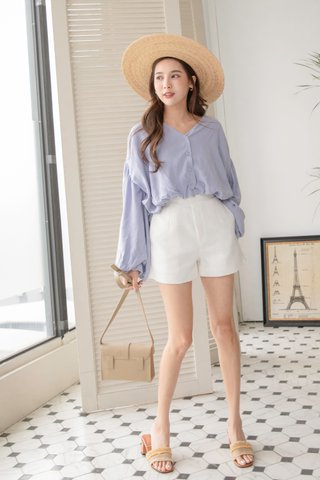 Carlos Puffy Blouse in Lilac