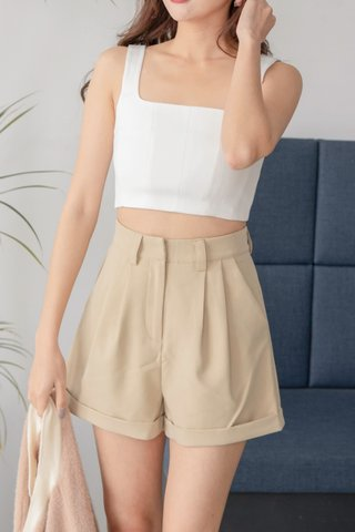Sher Square-Neck Crop Top