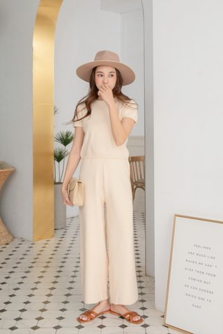 Carter Knitted Trousers in Cream