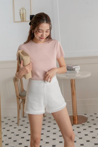 Carter Knitted Top in Blush